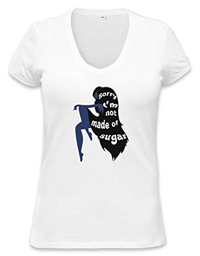 Not Made of Sugar Womens V-neck T-shirt Small