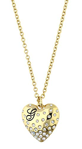 Guess Damen Halskette Metall Gold Herz UBN51492