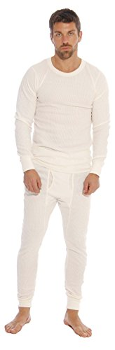 At The Buzzer Thermal Underwear Set for Men 95962-Ecru-S