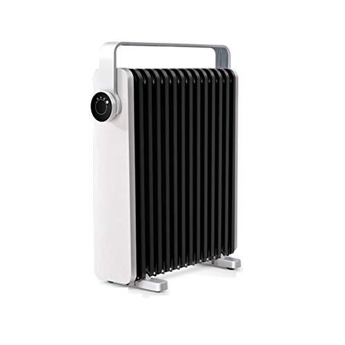 YXFF Calentador eléctrico portátil de 2,2 kW, termostato de Temperatura Ajustable Blanco, Calentador de Oficina en casa, secador de Ropa Independiente