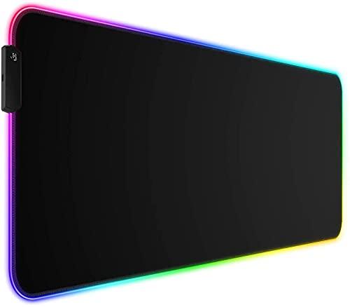 mouse pad negra de la marca TEKXDD