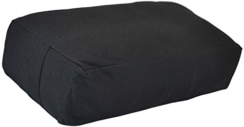 YogaAccessories Supportive Rectangular Cotton Yoga Bolster - Black