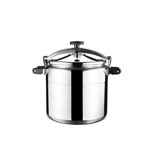 SJHSAIU Stainless steel pan large capacity commercial explosion-proof pan multifunctional cooking non-stick cookware family hotel gas pan 15-50L (Color : Silver, Size : 33L)