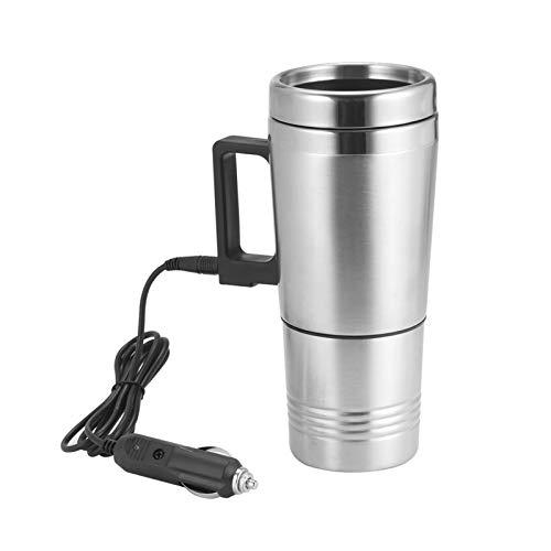 HUAZHUANG-Home 500 ml 12V 24V Acero Inoxidable Calentador de Agua Calentador de Agua Tienda de té Taza de té Calentada Motor Cigarette Encendedor Enchufe Copa de calefacción