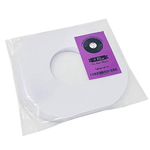 """Big Fudge 50 buste interne di carta per dischi in vinile, bianche 7"""" (45 giri)"""