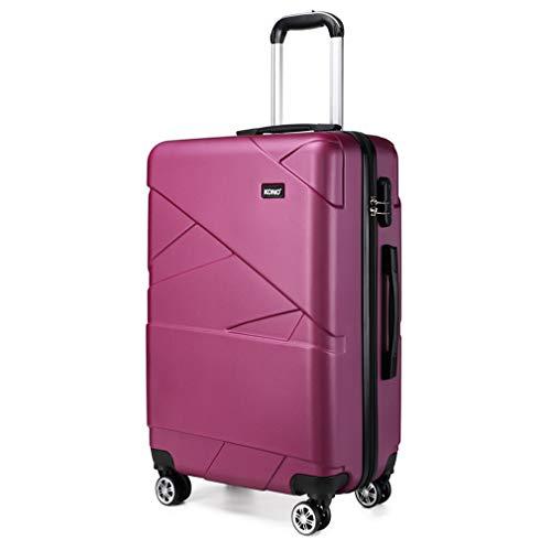 Kono Maleta de Cabina de 20 Pulgadas, superligera, de PC rígido, maletín de Viaje con 4 Ruedas(57 cm, Morado)