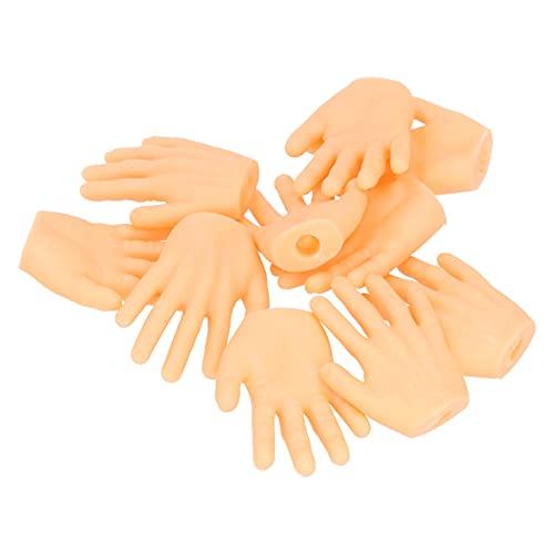Les-Theresa 10 Uds Manos pequeas tteres de Dedo meique Vinilo Robusto Juguete Manos de beb Mini Manos de Dedo para Juego Halloween Navidad Accesorios de Mano