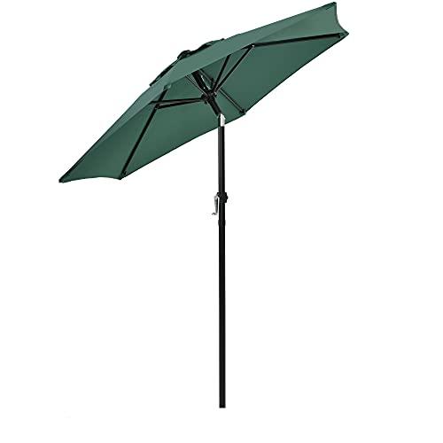 Outdoor Garden Patio Parasol Umbrella Crank Umbrella Sun Shade for Beach/Pool/Patio [Umbrella Base is not Included]