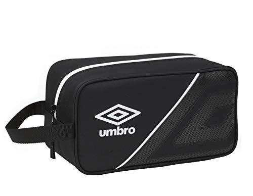 UMBRO Accesorio de Viaje - Bolsa para Zapatos, Bolso Zapatillas zapatillero, Color Negro, Única