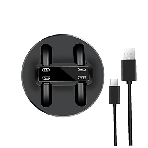 Compatible con Nintendo Switch Console Portable CARGA DOCKING DOCKING DOCKING CARGER MULTI-ranura con indicador LED Cable de datos USB