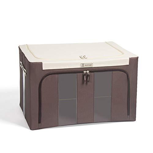 Bomoya Oxford Caja de almacenamiento de tela marco de acero para ropa sábanas manta almohada titular contenedor organizador