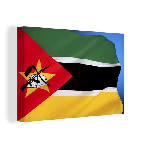 Leinwandbild - Flagge von Mosambik - 150x100 cm