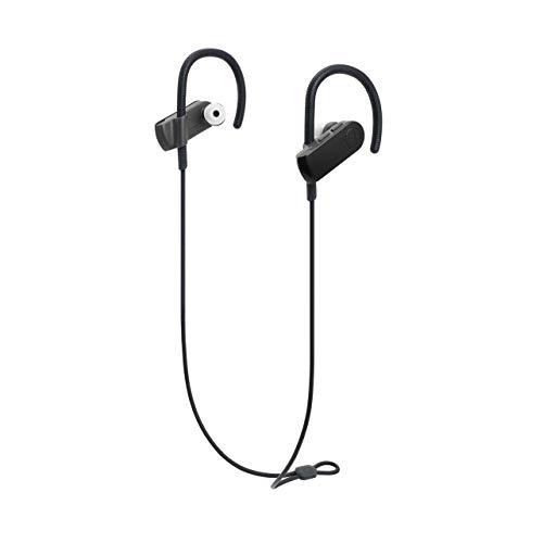 Audio-Technica ATH-SPORT50BTBK - Auriculares inalámbricos con conexión Bluetooth, color Negro