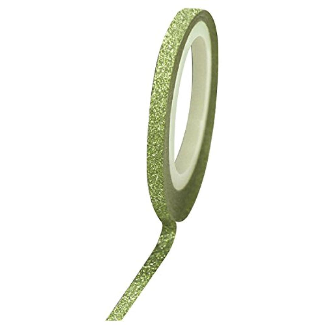 オズワルド同一の百万Bonnail グリッターラインテープ 3mm グリーンラメ