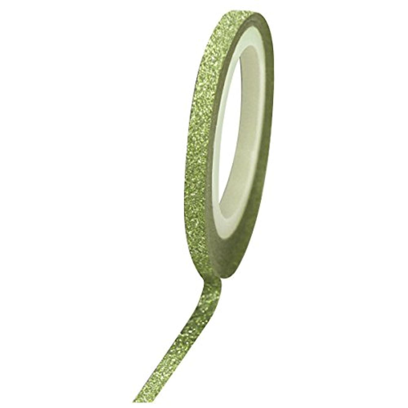 ズボン皮肉な尾Bonnail グリッターラインテープ 1mm グリーンラメ
