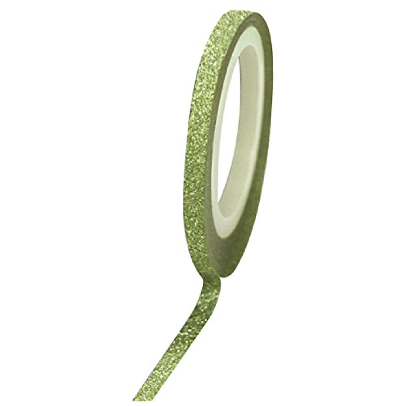 スクランブル花真実Bonnail グリッターラインテープ 1mm グリーンラメ
