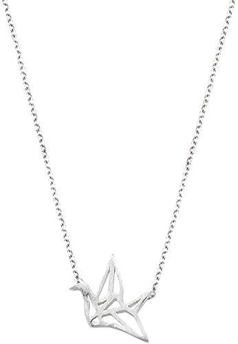 WYDSFWL Collar Mil Origami Grulla Collar Mujer Clavícula Cadena Regalos