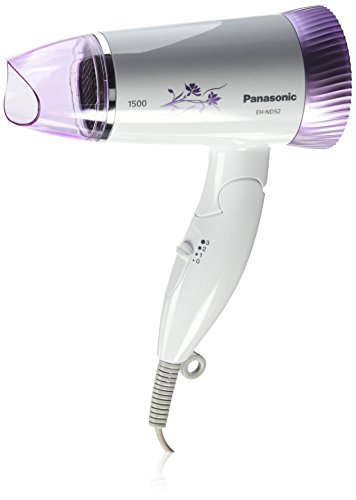 Panasonic EH-ND52-V62B 1500W Foldable Silent Hair Dryer (Violet)