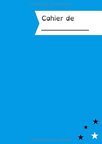 Cahier Ligné 100 pages - lignes 4 couleurs (bleu vert marron rouge) - interligne 3mm - grand format - Spécial dyspraxiques, dysgraphiques, dyslexiques