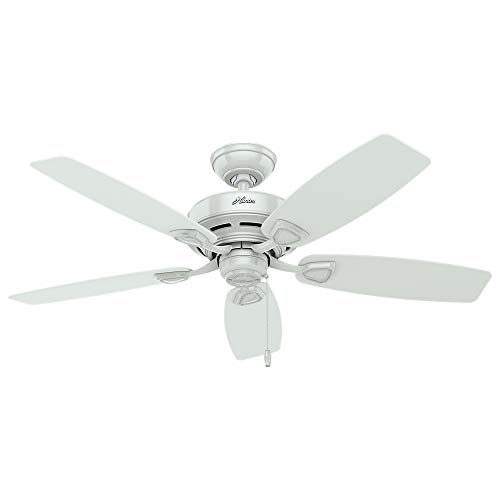 """HUNTER 53350 Sea Wind Indoor / Outdoor Ceiling Fan with Pull Chain Control, 48"""", White"""