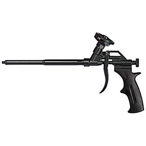 fischer Metallpistole PUP M4, robuste Schaumpistole mit PTFE-Beschichtung, Dosierpistole für PU-Schäume, Bauschaumpistole zum Verarbeiten von Pistolenschäumen, langlebig aus Metall, schwarz