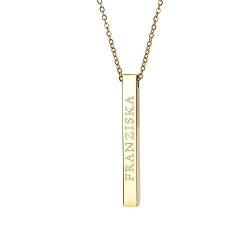 Gravado Halskette aus Edelstahl mit...