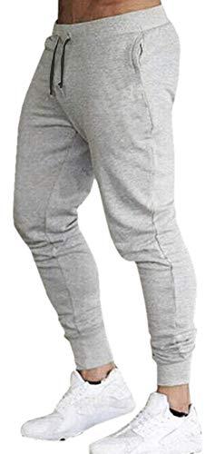Calça Moletom Masculina Jogger Slim Fit Básica Novastreet Cor:Cinza;Tamanho:P