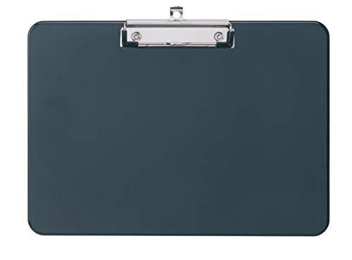 Schreibplatte A3 quer Kunststoff 2340290, Größe 43 x 33 x 1,5 cm, Klemmweite 0,8 cm, Schwarz