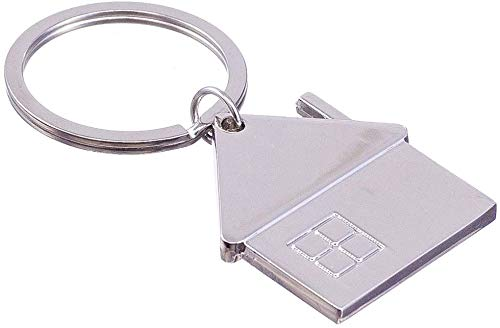 """nanomondo Schlüsselanhänger """"Zuhause"""" aus Metall N1082"""