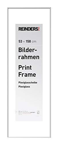 REINDERS Bilderrahmen Wechselrahmen Poster Weiß Kunststoff Jumbo 53x158cm - 54 x 159 cm Wohnzimmer