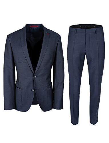 Roy Robson Herren Anzug Slim Fit 2-teilig aus Schurwolle Business Halbgefüttertes Sakko Sportiv (Jeansblau, 102)