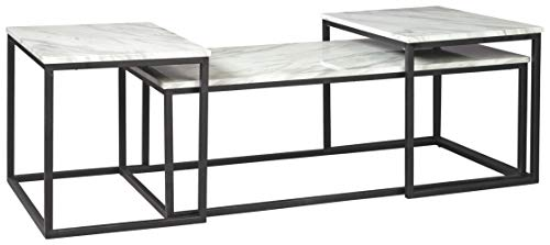 Signature Design by Ashley Donnesta Contemporary 3-Piece Table Set, Includes Coffee Table and 2 End...