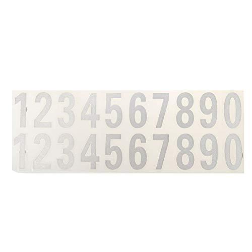 L-MEIQUN, Sala Calle Puerta de la casa Buzón Dirección Número de dígitos El número de Coches Puerta Etiqueta del Vinilo Reflectante Blanco Pegatinas Negro (Color : Blanco)