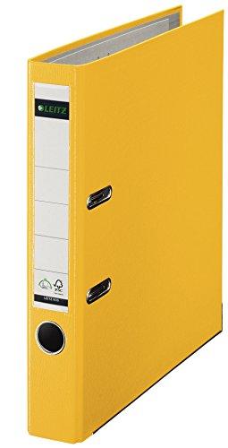 Leitz 10155015 Ordner (A4, Vollplastik, 52 cm Rücken, schmal), Gelb