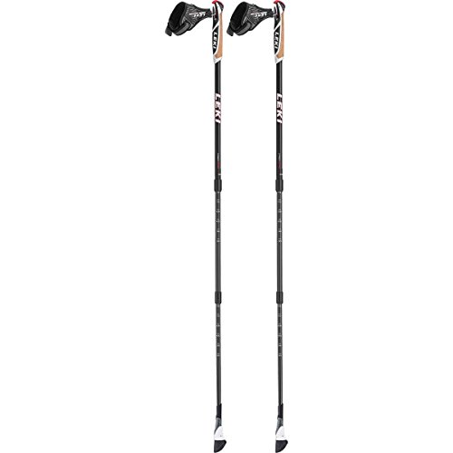 LEKI Smart Traveller Carbon Nordic Walkingstöcke, Black