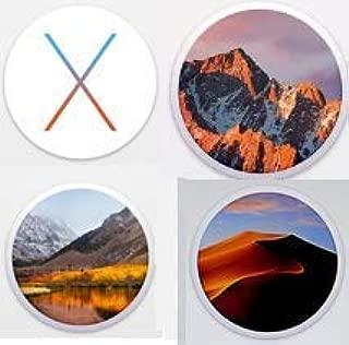 SITA Technologies Macintosh OS X Installer Upgrade- Mojave (OS X.14), HIGH Sierra (OS X.13), Sierra (OS X.12) & OS EL Capitan (OS X.11) Quad Bootable USB Flash Drive