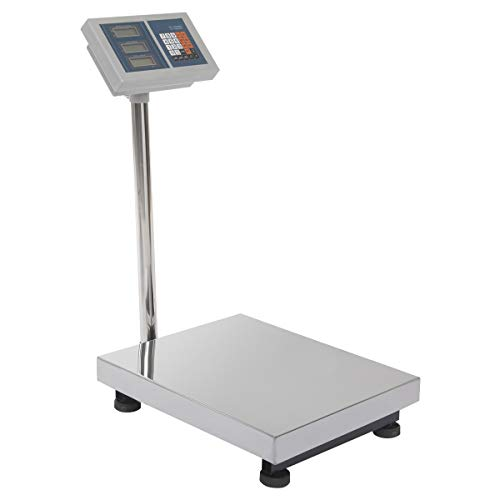 Happygrill Weight Scale 660lbs Digital Scale Floor Platform Scale for Weighing Package Shipping Mailing Postal Scale with LB/KG Price Calculator