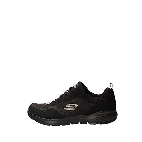 Skechers Damen Flex Appeal 3.0-go Forward Sneaker,Black Leather/Mesh/Trim,42 EU