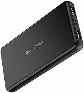 Portable Charger RAVPower Power Bank RP-PB165 15mm Ultra Slim 10000mAh external Battery Pack 232G Light Quick Charge Batte...