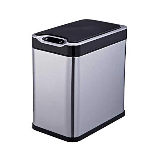 Cttiuliljt Smart Trash Can Edelstahl 12L...