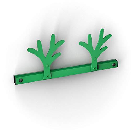 Bolis Italia - Percha de Alambre con Doble Gancho, Color Verde, Talla única