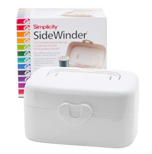 Simplicity Sidewinder Portable Bobbin Winder, White