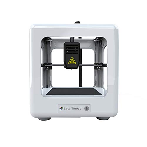 3D Printer, EasyThreed Mini Desktop 3D Printer DIY Kit with Slicing Software and Magnetic Removable Platform for Beginners Kids Teens,Support One Key Printing,Very low noise,White