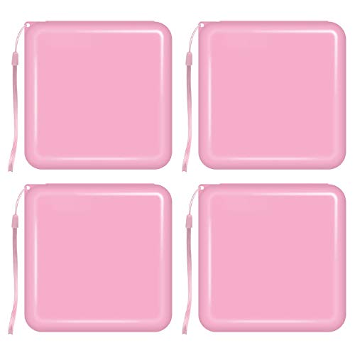 VALICLUD 4pcs Face Cover Storage Case Mouth Cover Organizer Keeper Folder Pink