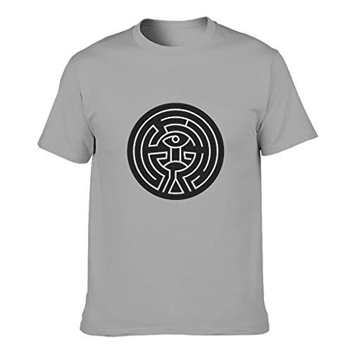 Labyrinth der westlichen Welt Premium-Qualität Verschiedene Typen Kurzärmliges T-Shirt mit Arbeitskleidung für Vater Mutter Onkel Großvater Westliche Welt Gray XL