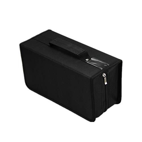 Penlonda CD/DVD Case Holder Organizer Wallet Sleeves Booklet Binder,Storage 168 Capacity Disc(Black)
