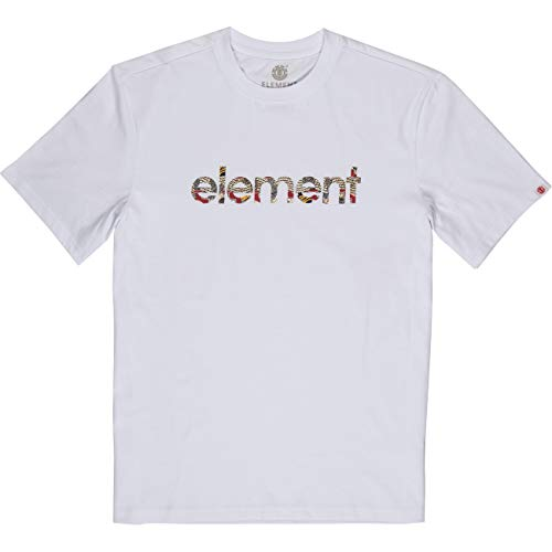 Element Origins Icon SS Tees - Camiseta para hombre Color blanco. XL