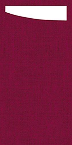 Duni 173681Sacchetto Besteck Taschen mit gefaltet Dunisoft Servietten Innen, 11,5cm x 23cm, bordeaux Sacchetto und weiß Serviette (240Stück)