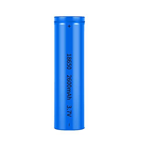 MJJYS 18650 Batería Recargable, la Alta Capacidad Se Pueden recargar 2600mAh 1200 Veces, se Pueden Usar para los fanáticos de Mano,A