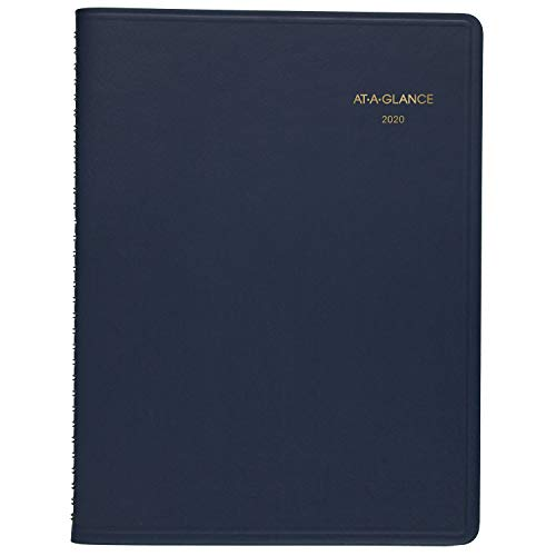 "AT-A-GLANCE 2020 Monthly Planner, 9"" x 11"", Large, Navy (7026020)"